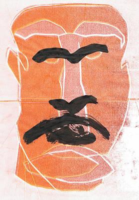 Relief - Man Face Original 4 by Artist Dot