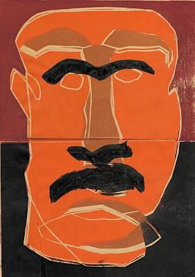 Relief - Man Face Original 8 by Artist Dot