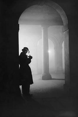 Man In Fog Art Print by Arthur Tanner