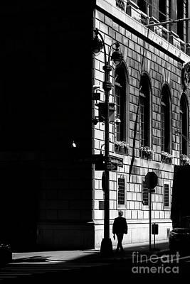 Photograph - Man In Midtown Manhattan by Andriy Stefanyshyn
