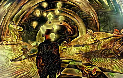 Surrealism Digital Art - Man in surreal desert by Bruce Rolff