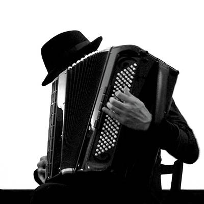Photograph - Man Playing Vintage Accordion by Juanluisgx