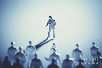 Photograph - Man Standing In Front Of People On White Background by Michal Bednarek