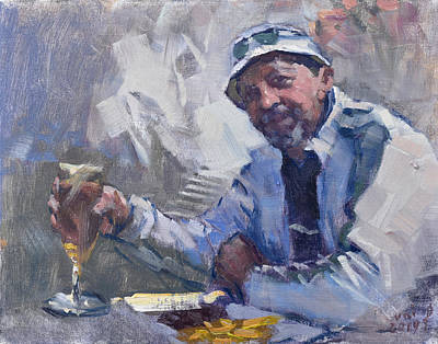 Man With A Drink Original