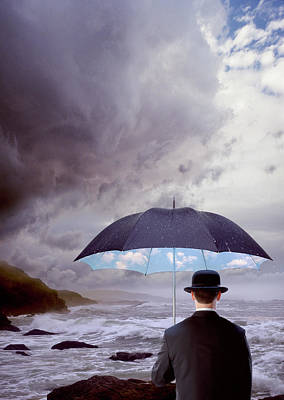 Photograph - Man With Bolo Hat And Umbrella by Lorenz And Avelar
