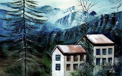 Painting - Manali 1 Himalaya by Anil Nene