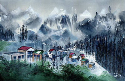 Painting - Manali 3 by Anil Nene