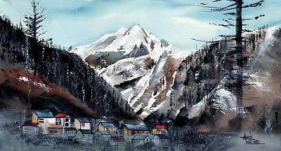 Painting - Manali 5 Himalaya by Anil Nene