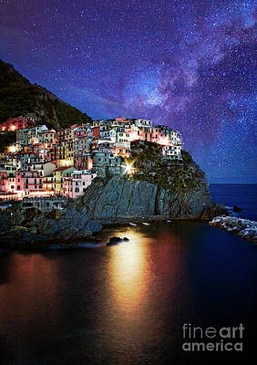 Photograph - Manarola By Stars by Scott Kemper