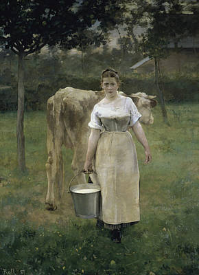 Painting - Manda Lametrie, The Farmers Wife By by Peter Willi