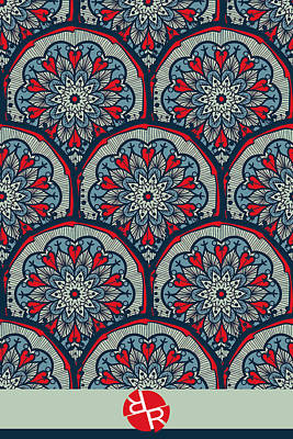 Painting - Mandala Seamless Pattern by Tony Rubino