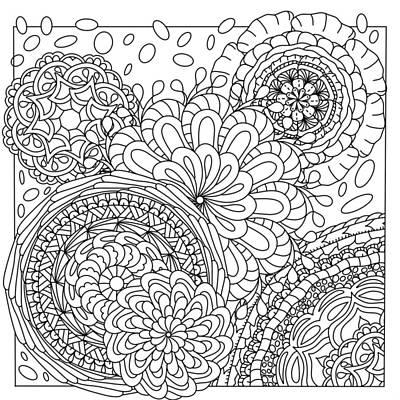 Painting - Mandalas Gather by Kathy Sheeran