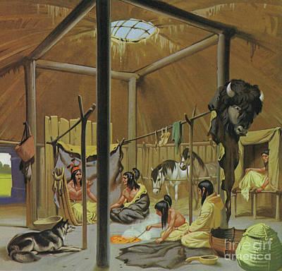 Painting - Mandan Earth Lodge by Angus McBride