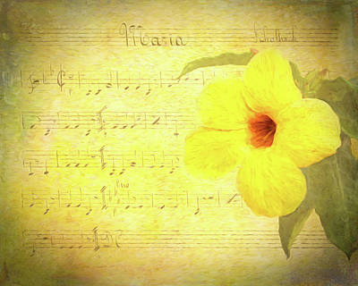 Music Paintings - Mandevilla And Maria Painted by Judy Vincent