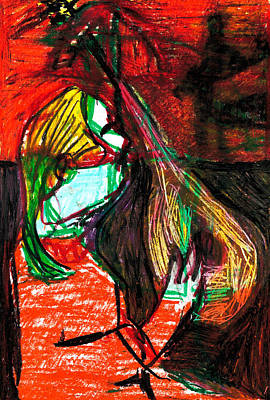 Digital Art - Mandola Player Digitally Altered 1 by Artist Dot