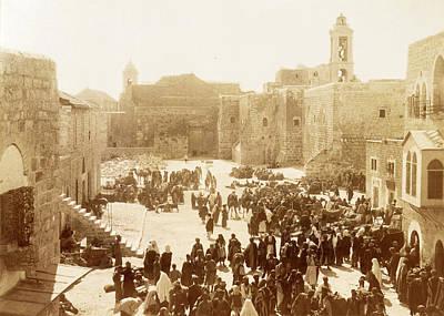 Photograph - Manger Square 1894 by Munir Alawi