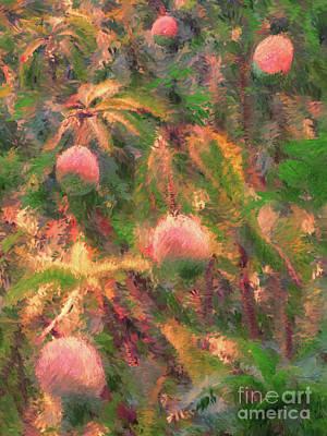 Digital Art - Mango Tree Impression by Jeff Breiman