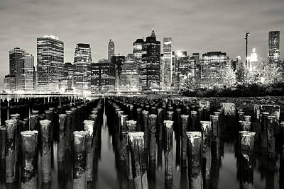 Photograph - Manhattan At Night by Shobeir Ansari