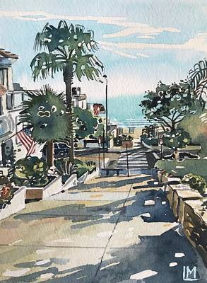 Animal Watercolors Juan Bosco - Manhattan Beach #1 by Luisa Millicent