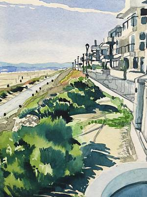 Animal Watercolors Juan Bosco - Manhattan Beach the Strand on a Sunny day by Luisa Millicent