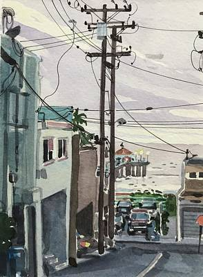 Animal Watercolors Juan Bosco - A Manhattan Beach evening. by Luisa Millicent