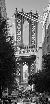 Lady Bug - Manhattan Bridge B W 18 by Rob Hans