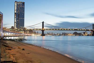 Photograph - Manhattan Bridge Before Sunrise by Doug Ash