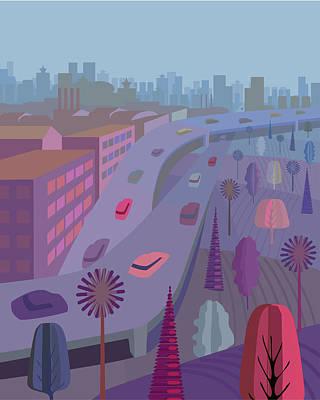 Digital Art - Manhattan, Illustration And Painting by Charles Harker