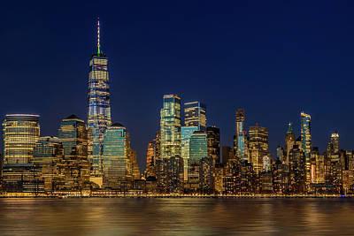 Photograph - Manhattan Nyc Skyline Twilight by Susan Candelario