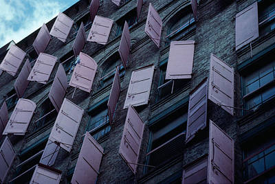 Photograph - Manhattan Shutters by Alfred Gescheidt