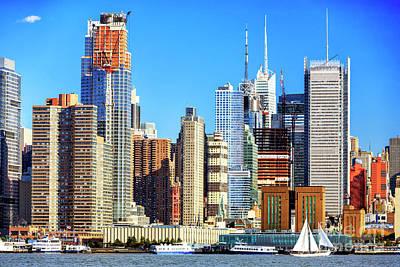Photograph - Manhattan Skyscraper Colors by John Rizzuto