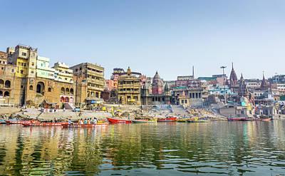 Photograph - Manikarnika Ghat Varanasi by Gary Gillette