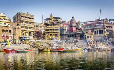 Photograph - Manikarnika Varanasi by Gary Gillette