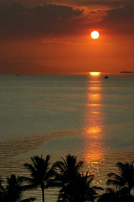 Photograph - Manila Bay Sunset by Vanwyckexpress