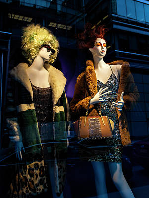 Photograph - Mannequins - Department Store Window by Robert Ullmann