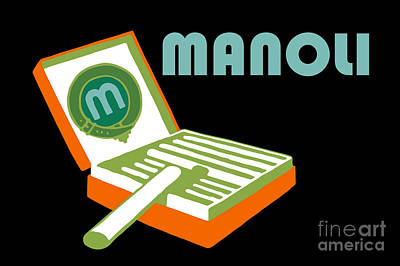 Drawing - Manoli Plakatstil by Aapshop
