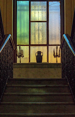 Photograph - Mansion Window by Tom Singleton