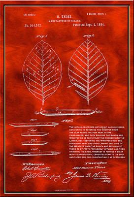 Digital Art - Manufacture Of Cigars Patent Drawing by Carlos Diaz