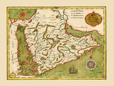 Photograph - Map Of Arabia 1732 by Andrew Fare