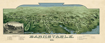 Photograph - Map Of Barnstable 1884 by Andrew Fare