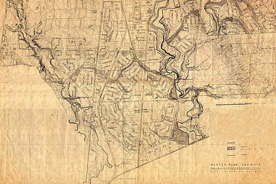 Photograph - Map Of Don Mills 1953 by Andrew Fare