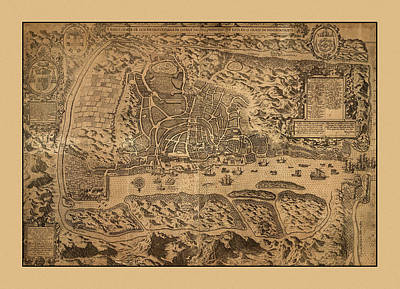 Photograph - Map Of Goa 1595 by Andrew Fare
