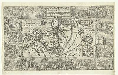 Lucille Ball - Map of Israel and Egypt, Pieter Bast, after David Vinckboons I, c. 1604 by David Vinckboons