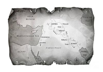 Map Of Mesopotamia Original