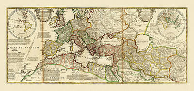 Photograph - Map Of The Roman Empire 2 by Andrew Fare