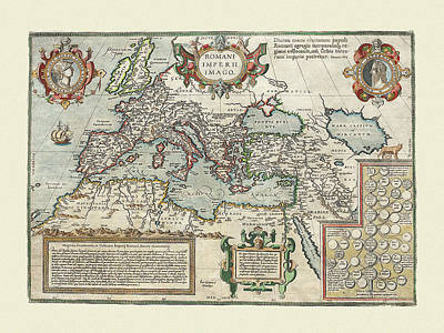 Photograph - Map Of The Roman Empire by Andrew Fare