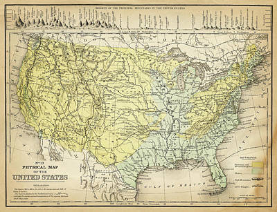 Digital Art - Map Of Usa 1867 by Thepalmer