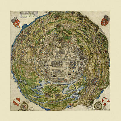 Photograph - Map Of Vienna 1530 by Andrew Fare