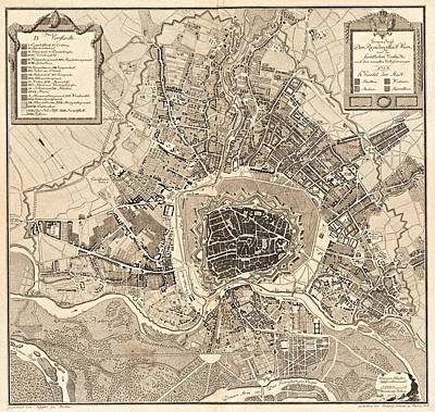 Painting - Map Of Wien  1783  by Celestial Images
