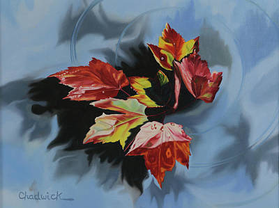 Painting - Maple Leaves by Phil Chadwick